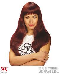 long red wig with fringe towie essex pop star model fancy dress ebay