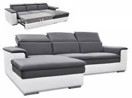 canapé d angle droit convertible canap lit angle droit convertible tissu simili gris connor 12