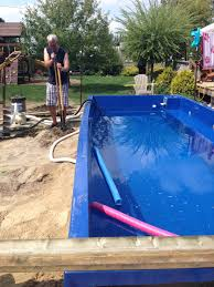 Deep Backyard Pool by Fiberglass Plunge Pool U0026 Deck U2013 Diy Already