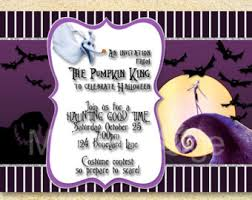 nightmare before christmas wedding invitations nightmare before christmas party skellington nightmare