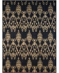 Black And Gold Rug Ikat 108a Black Pale Tan Flatwoven David E Adler Inc Fine