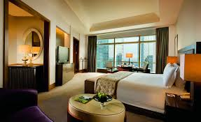 Bedroom Wall Of Windows Deluxe Grand Club Hotel Room The Ritz Carlton Jakarta Pacific Place