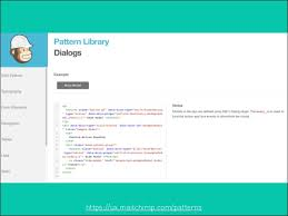 pattern library mailchimp front end pattern libraries