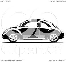 volkswagen clipart clipart of a grayscale volkswagen beetle 2 royalty free vector