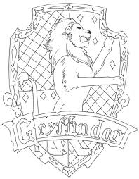 harry potter gryffindor coloring printable coloring pages
