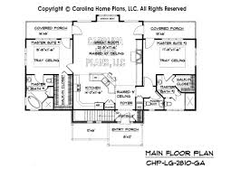 2 Story House Plans With Master On Main Floor Large Craftsman House Plan Chp Lg 2810 Ga Sq Ft Large Craftsman