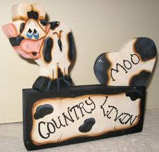 cow shelf sitter shelf sitter painted cows unique gifts