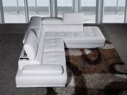 Leather Corner Sofa Milano Stylist Modern White Leather Corner Sofa Right Hand With
