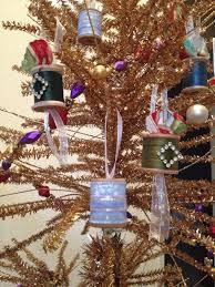 pie crust thread spool ornaments