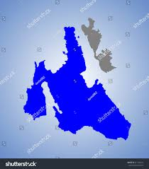 Ithaca Map Island Cephalonia Greece Vector Map High Stock Vector 211182181