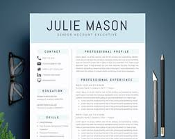 executive resume design thoughtfully designed resume cv templates for ms word by a1resume