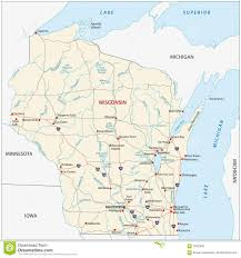 Illinois Interstate Map by Wisconsin State Interstate Map Stock Image Image 15233531