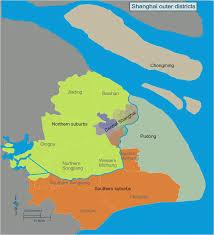 Shanghai Map Shanghai Districts Map Shanhai Area Map Shanghai Outer Districts Map