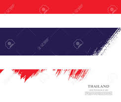 Flag Of Thailand Flag Of Thailand Brush Stroke Pattern Ilustraciones Vectoriales