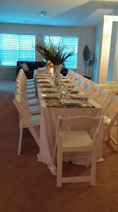 chair table rental great formal dinner atlanta rental white resin chair table