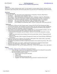 resume objective for healthcare cover letter quality analyst resume healthcare quality analyst cover letter resume objective qa analyst resume samples examples sample quality assurance xquality analyst resume extra