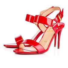 christian louboutin sova heel patent leather sandals womens in