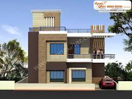 Duplex House Plan With Elevation Amazing 01copy Design