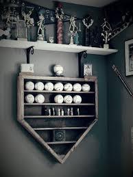 baseball shelf in the shape of home plate baseball decor with
