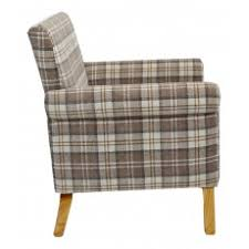 Check Armchair Fabric Armchairs Living Room What Not U0027s