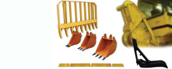 attachments buckets brush rakes log arches fork assemblies