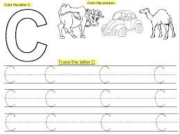 trace the letter c for the cutie handwriting kiddo shelter