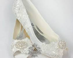 small heel wedding shoes lace wedding shoes etsy