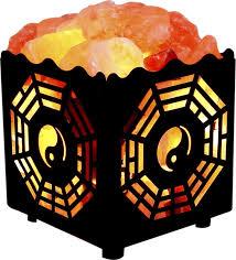 amazon com crystal decor natural himalayan salt lamp in bagua