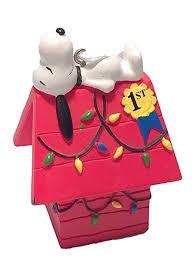 snoopy christmas dog house hallmark peanuts snoopy on doghouse christmas ornament