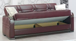 Burgundy Leather Sofa 20 Best Collection Of Leather Sofa Beds