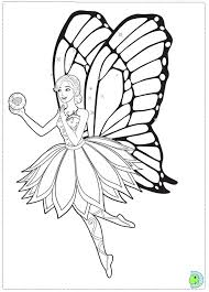barbie mariposa fairy princess coloring dinokids org