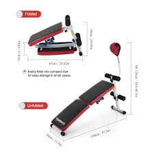 online shop adjustable folding decline ab bench sit up abdominal
