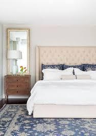 cream tufted headboard contemporary bedroom brittany stiles