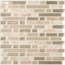 Smart Tiles Original Peel  Stick Backsplash Wall Tile Walmartcom - Smart tiles backsplash