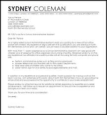 sample cover letter for administrative position in education