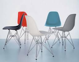 herman miller eames molded plastic side chair upholstered shell