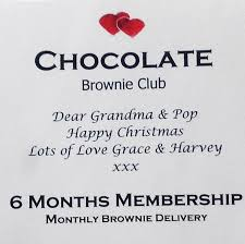 monthly gift clubs chocolate brownie subscription by shortbread gift company