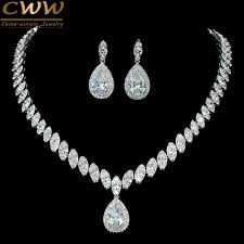 wedding necklace images Cwwzircons high quality cubic zirconia wedding necklace and jpg