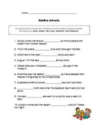 relative pronouns u0026 relative adverbs practice by kathy ritchie tpt