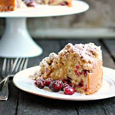 thanksgiving dinner cake hungry couple cranberry crumb cake