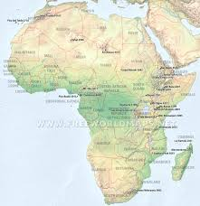 Africa Map by Geographical Map Of Africa