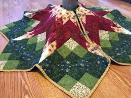 Peppermint Twist Tree Skirt Using Quilted Tree Skirt Quilted Tree Skirt Poinsettia