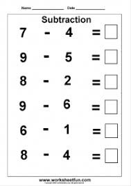 subtraction worksheet matematik pinterest subtraction