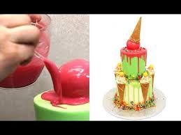 cake how to color drip cake how to make by cakesstepbystep