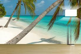find best designed wall decals tropical beach view wall decals