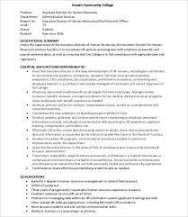 Human Resource Assistant Resume Human Resources Job Description Administrative Assistant Job