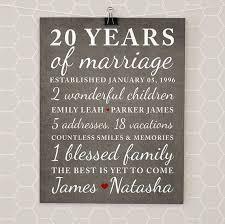 20 yr anniversary 20 year anniversary gift wedding anniversary gift print gift for