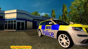 police jeep euro truck simulator 2 ets2 mod car police jeep uk v1 22