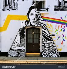 london december 6 street art chelsea stock photo 240407689 london december 6 street art at chelsea arts club doorway based on pink floyd s