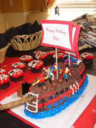 cool pirate ship birthday cake for 4 year old minecraft party a